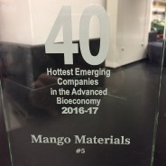 Mango Materials named #5 Hottest Emerging Company in Bioeconomy