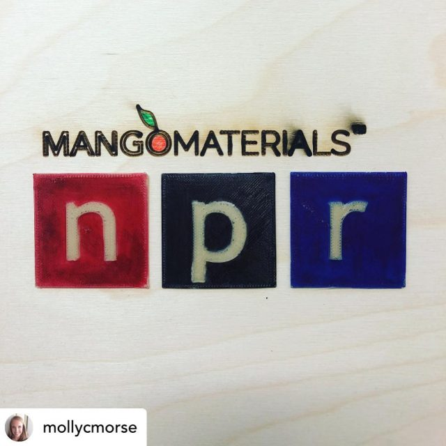 Amped to announce (with our prototype #3dprinted fully #biodegradable #biopolymer) that @mangomaterials will be on @morningedition tomorrow (June 12) on @npr  Guessing that we will talk about #circularity next generation materials, #globalchallenges and our desire to #oustpersistentplastics  Thanks #anonymoususer42  @thingiverse for the #npr file.